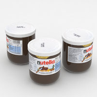 3D nutella 230g jar model