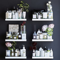 shelves decor cosmetics 3D