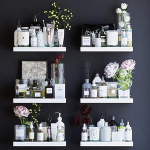 shelves decor cosmetics 3D