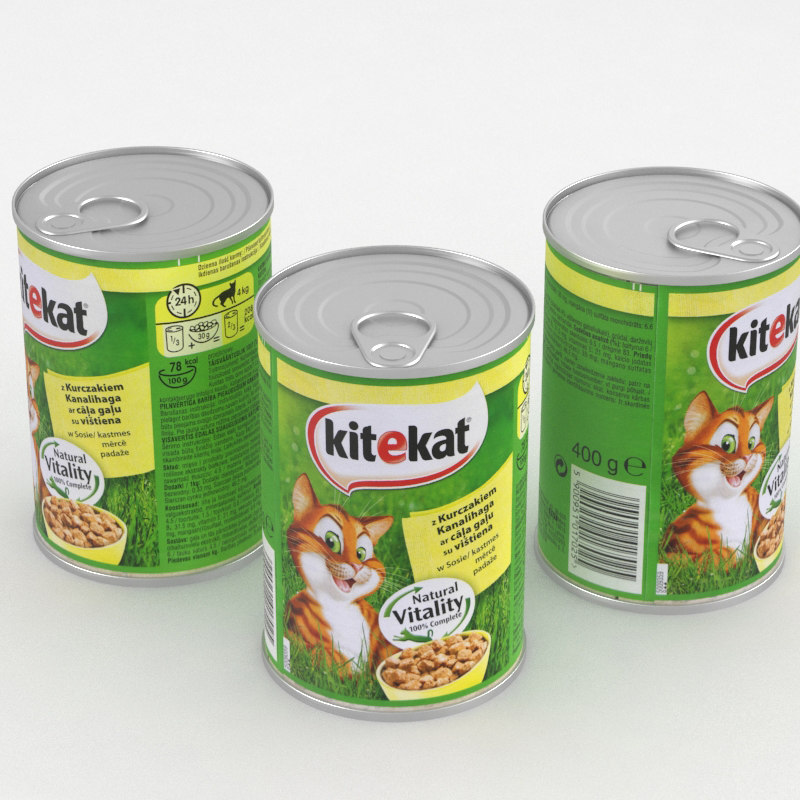 3D model cat food