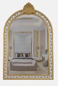 gold mirror classical 3D
