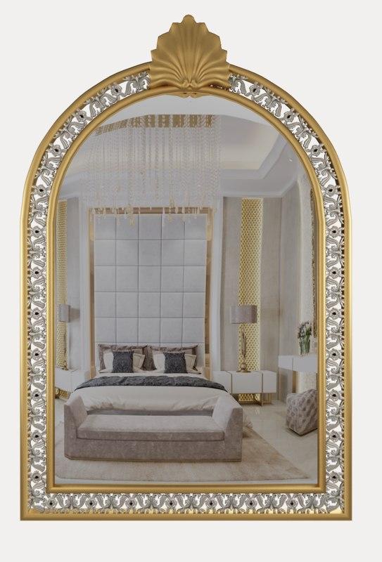 gold mirror classical 3D