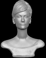 audrey hepburn bust model