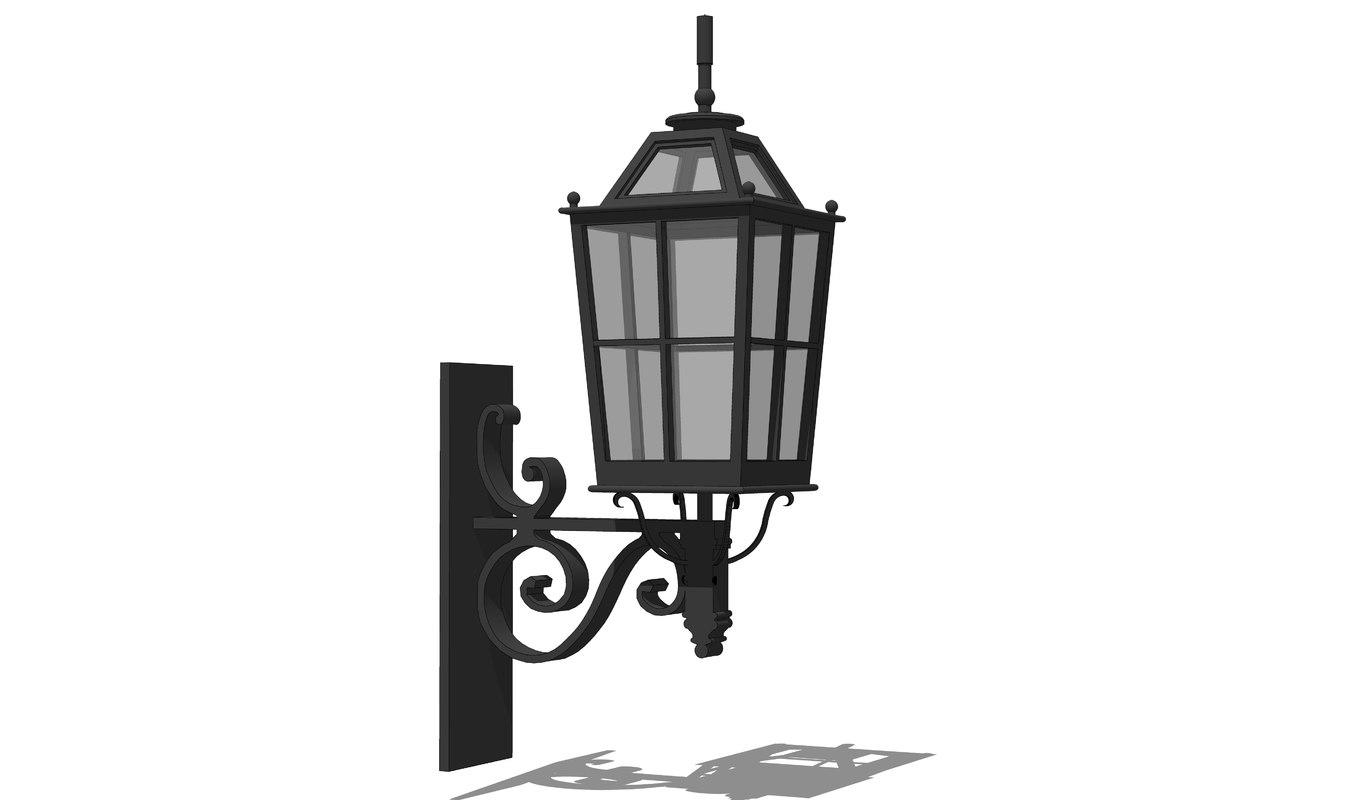 exterior light 3D model