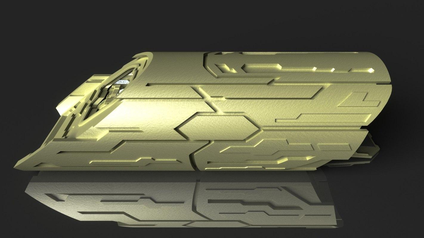 stargate atlantis puddle jumper 3D model