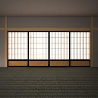 door japanese classic 3D