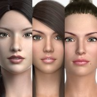 3D model female characters
