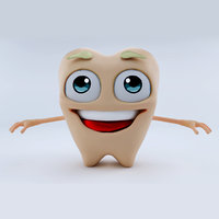 toon character tooth 3D model