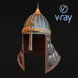 medieval helmet modeled 3D model