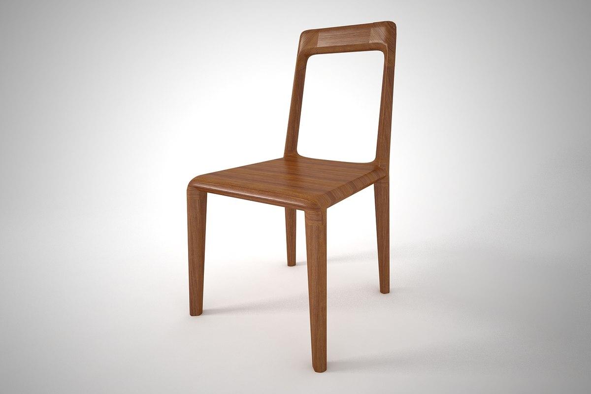 3D furnishing dinning chair