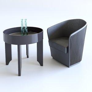 3D set coffee table bodema model