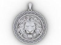 3D lion pendant model