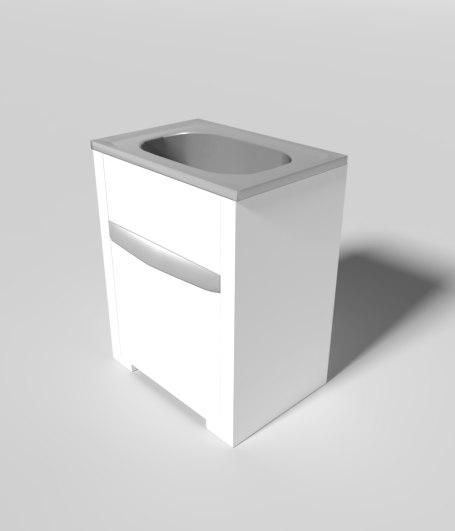 3D model pbr laundry trough