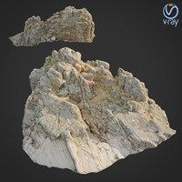 scanned rock cliff w model
