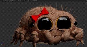 3D cute spider