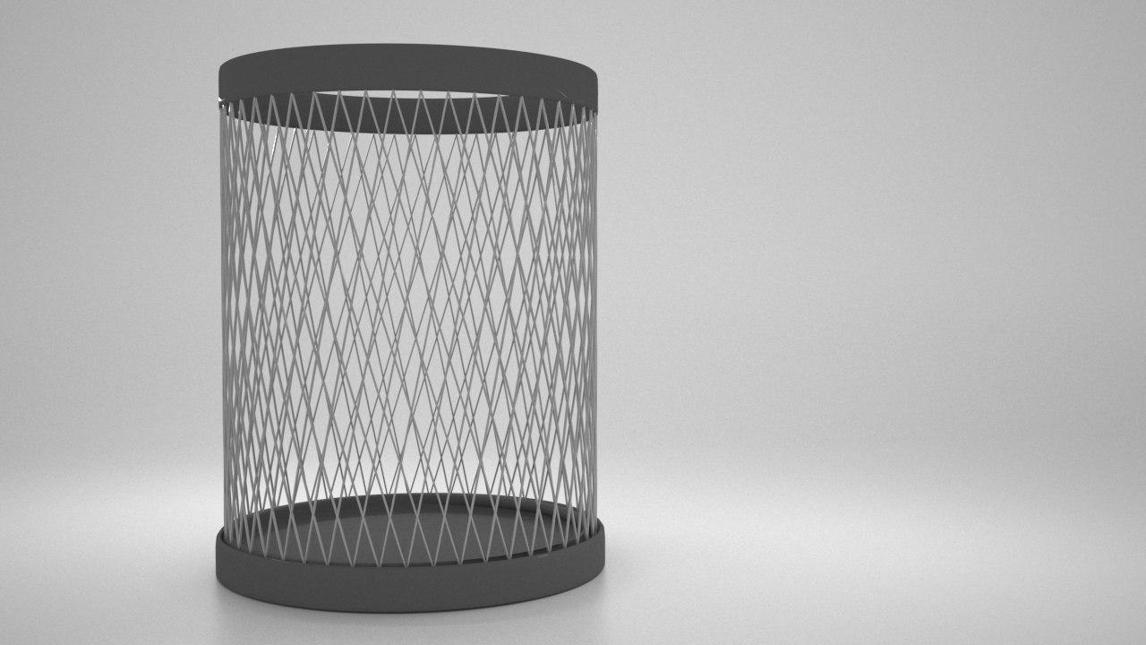 metallic trash 3D