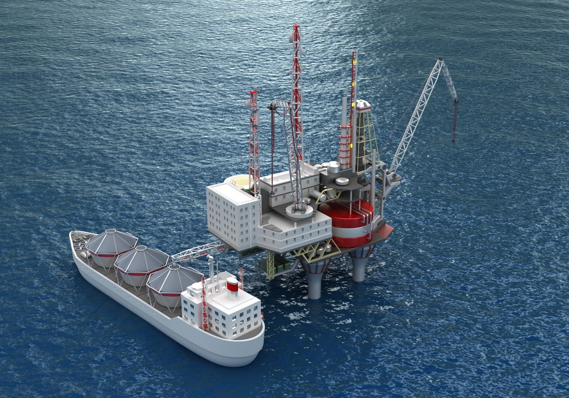 3D supply vessel drilling rig