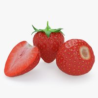 strawberry real realistic 3D model