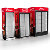 3D model commercial fridges