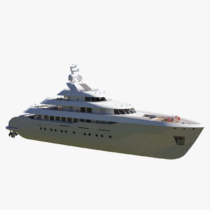 generic luxury yacht 3D
