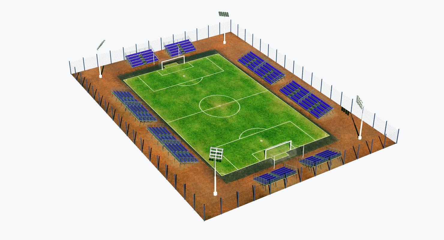 3D soccer pitch model