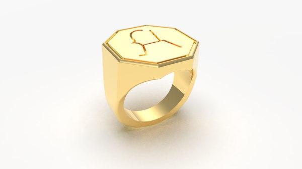 goat ring 3D model