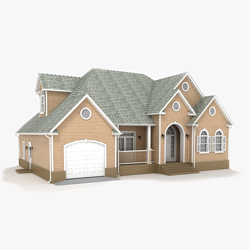 3D two-story cottage 53