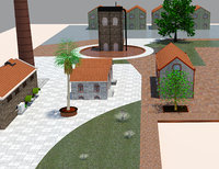 3D history old building model