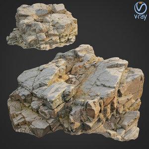 scanned rock cliff y 3D