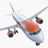 Airbus A321 EasyJet Airline Rigged 3D Model