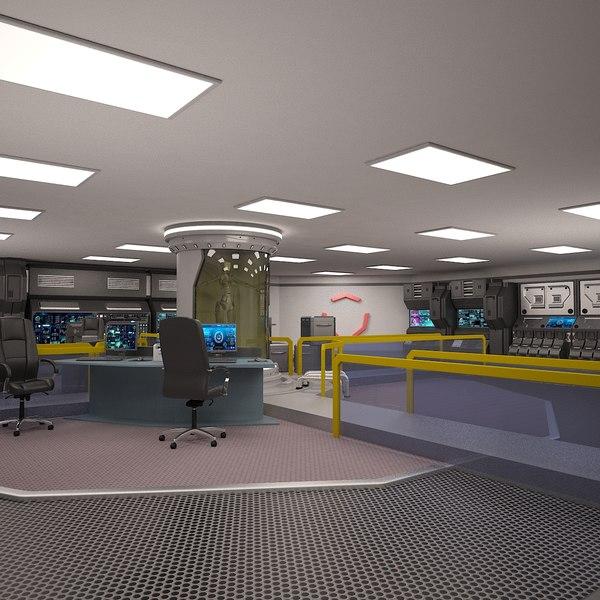 scifi laboratory 3D model