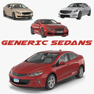 3D generic sedans