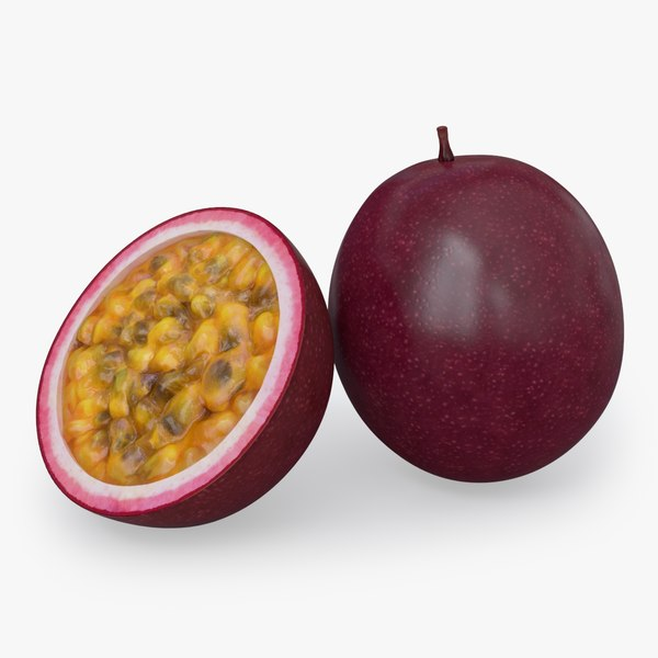 passionfruit real realistic 3D model