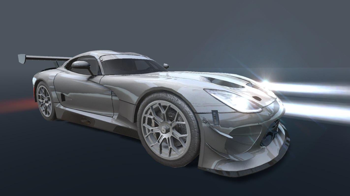 3D dodge viper gr3 2017 model