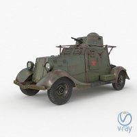 fai m armoured car 3D