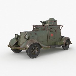 fai m armoured car 3D