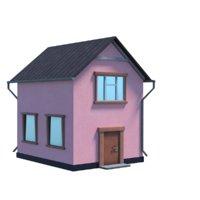 Pink village home