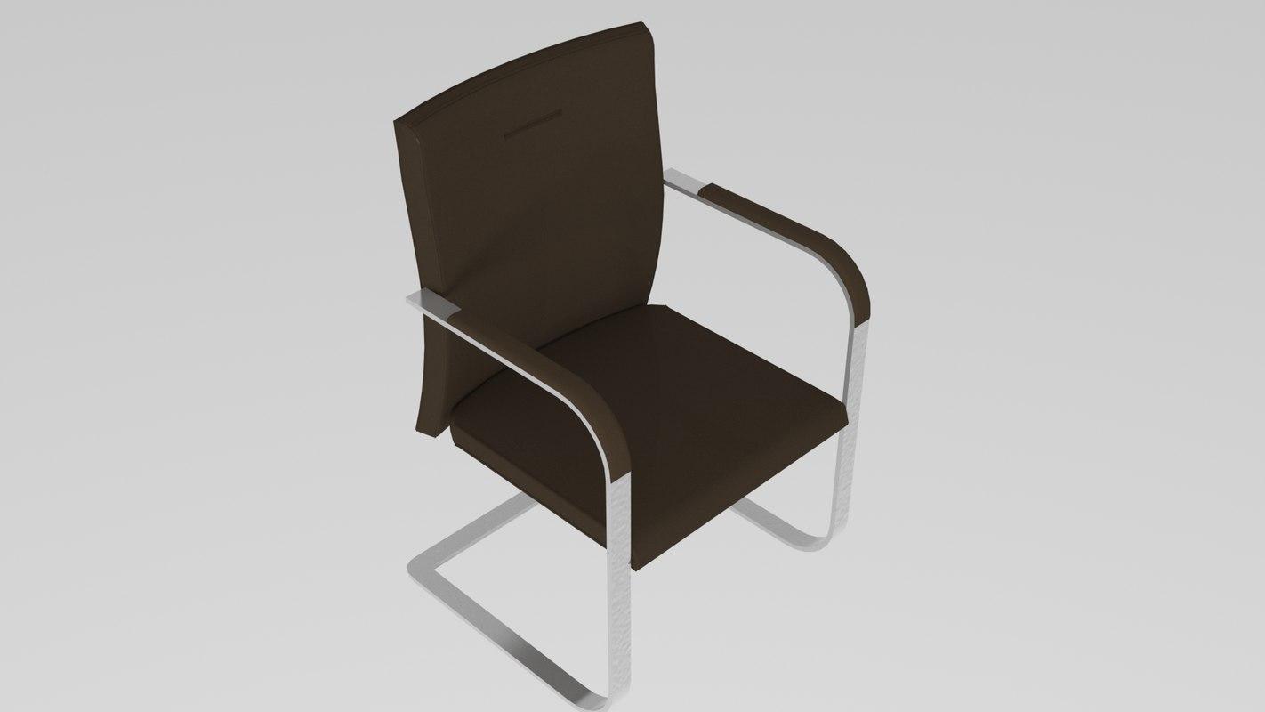chair meeting 3D model