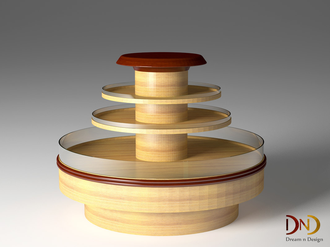 3D chocolate display stand furniture design