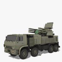 sa-22 pantsir-s1 greyhound 3D