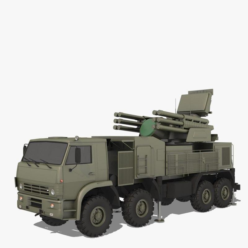 sa-22 pantsir-s1 greyhound 3D