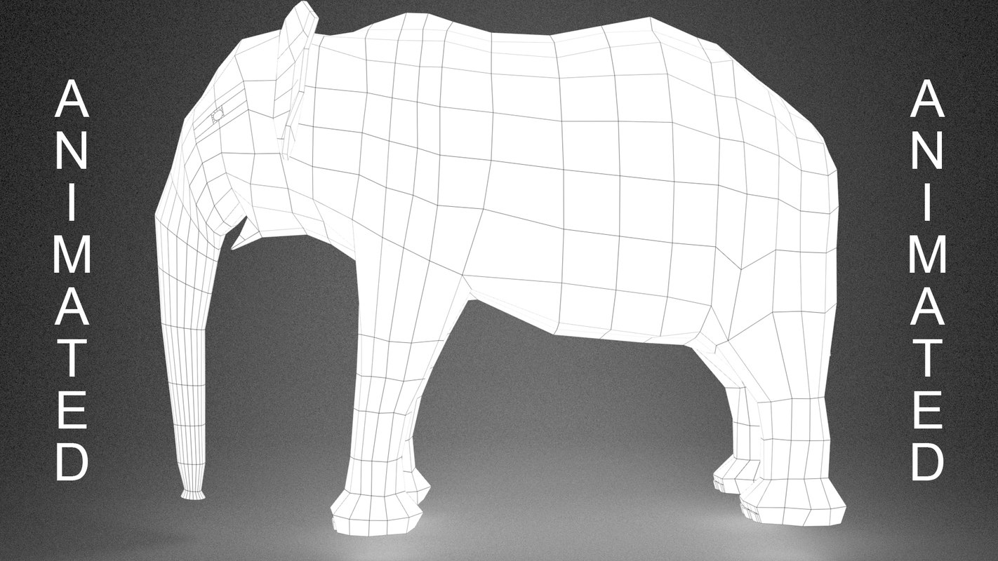 3D elephant skeleton animation -
