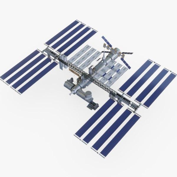international space 3D model