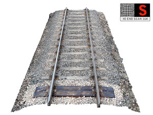 3D railroad tracks 16k