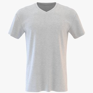 3D mens v neck t-shirt model