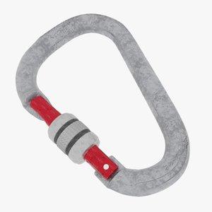 3D carabiner latch