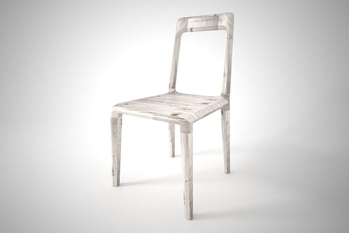 3D furnishing dinning chair model