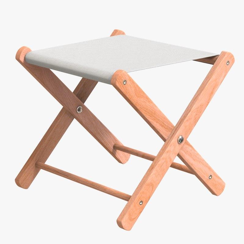 folding stool 3D