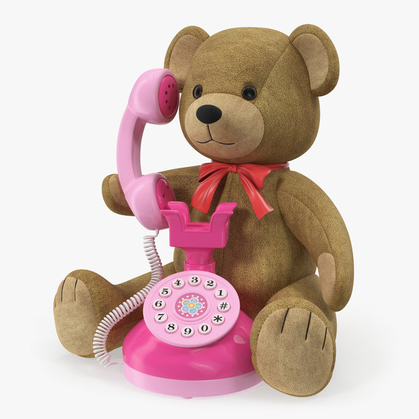 teddy bear toy phone 3D model