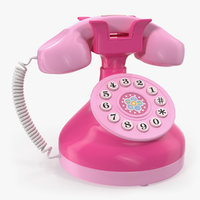 3D model toy phone pink